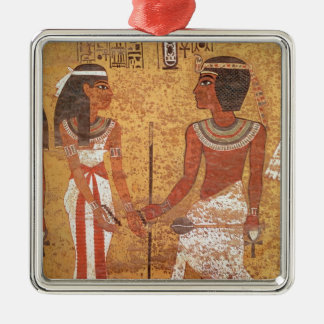 Tutankhamun  and his wife, Ankhesenamun Metal Ornament