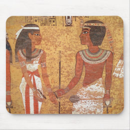 Tutankhamun  and his wife, Ankhesenamun Mouse Pad