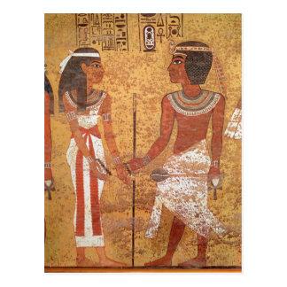 Tutankhamun  and his wife, Ankhesenamun Postcard
