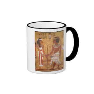 Tutankhamun  and his wife, Ankhesenamun Ringer Coffee Mug