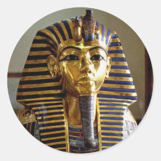 Tutankhamun - Burial mask Classic Round Sticker