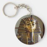 Tutankhamun - Burial mask Basic Round Button Keychain