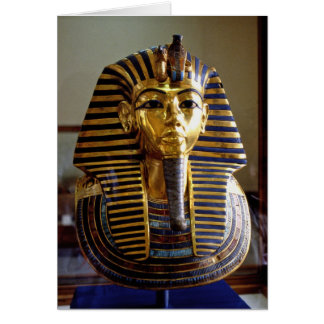 Tutankhamun - máscara del entierro tarjeta de felicitación