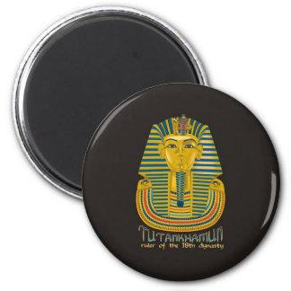Tutankhamun mummy, the ancient King Tut of Egypt 2 Inch Round Magnet