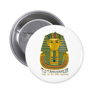 Tutankhamun mummy, the ancient King Tut of Egypt Button