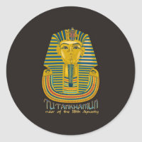 Tutankhamun mummy, the ancient King Tut of Egypt Classic Round Sticker