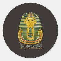 Tutankhamun mummy, the ancient King Tut of Egypt Classic Round Sticker