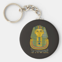Tutankhamun mummy, the ancient King Tut of Egypt Keychain