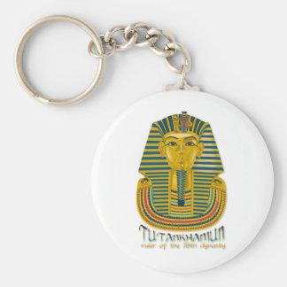 Tutankhamun mummy, the ancient King Tut of Egypt Keychain