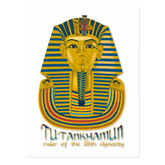 Tutankhamun mummy, the ancient King Tut of Egypt Post Cards