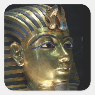 tutankhamun pegatina cuadrada
