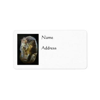 Tutankhamun's Golden Mask Label