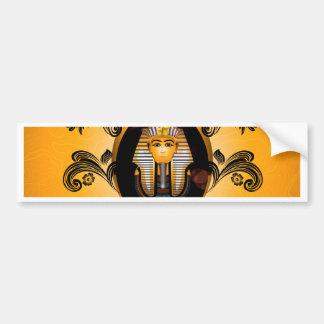 Tutankhamun, the agyptische pharaoh car bumper sticker
