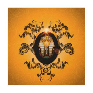 Tutankhamun, the agyptische pharaoh wood wall art
