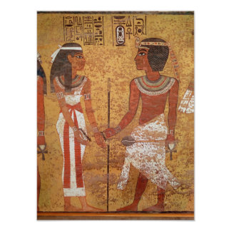 Tutankhamun y su esposa, Ankhesenamun Posters