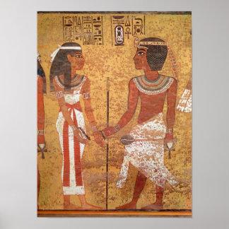Tutankhamun y su esposa Ankhesenamun Posters