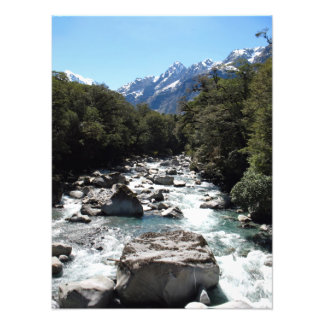 Tutoko river Fiordland New Zealand Photo Print