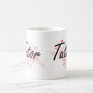 Tutor Artistic Job Design with Butterflies Coffee Mug
