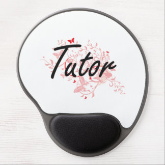 Tutor Artistic Job Design with Butterflies Gel Mouse Pad