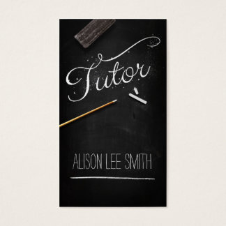 Tutor chalkboard business card