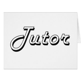 Tutor Classic Job Design Card