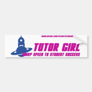Tutor Girl Bumper Sticker