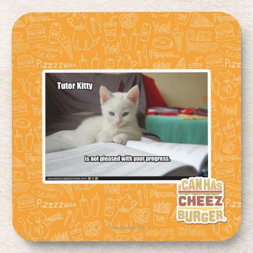 Tutor Kitty Drink Coasters