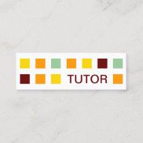 TUTOR mod squares Mini Business Card