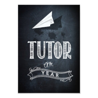 Tutor of to year card