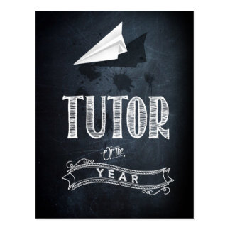 Tutor of to year postcard
