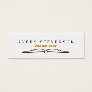 Tutor Open Book Mini Business Card