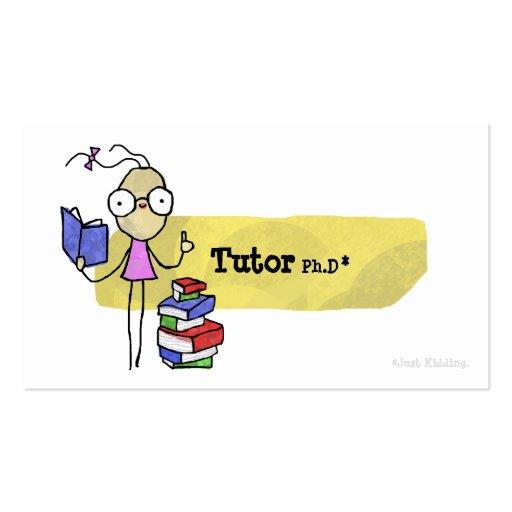 Tutor Ph.D Girl Business Card