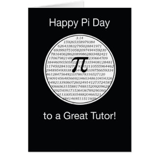 Tutor Pi Day Circle Card