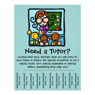 Tutor Flyers & Programs | Zazzle