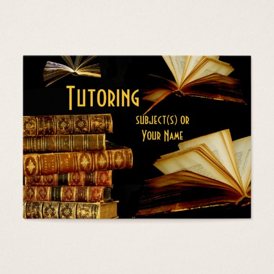 Tutor, Teacher, School Business Card