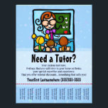 """Tutor.Tutoring.Custom text/color Flyer<br><div class=""""desc"""">Tutoring can be a great way to earn extra money. This adorable, eye catching flyer is perfect to hang in local businesses, churches, synagogues, libraries or parks. Cut between the contact info at the bottom so that people can just tear off your number so that they don&#39;t forget! The text...</div>"""