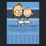 """Tutor.Tutoring.Customizable advertising Flyer<br><div class=""""desc"""">What better way to advertise your tutoring service than with this charming,  eye catching and professionally designed tearsheet flyer. Features a female teacher/tutor with a young boy student. All text and color can be changed to suit your particular needs and expertise.</div>"""