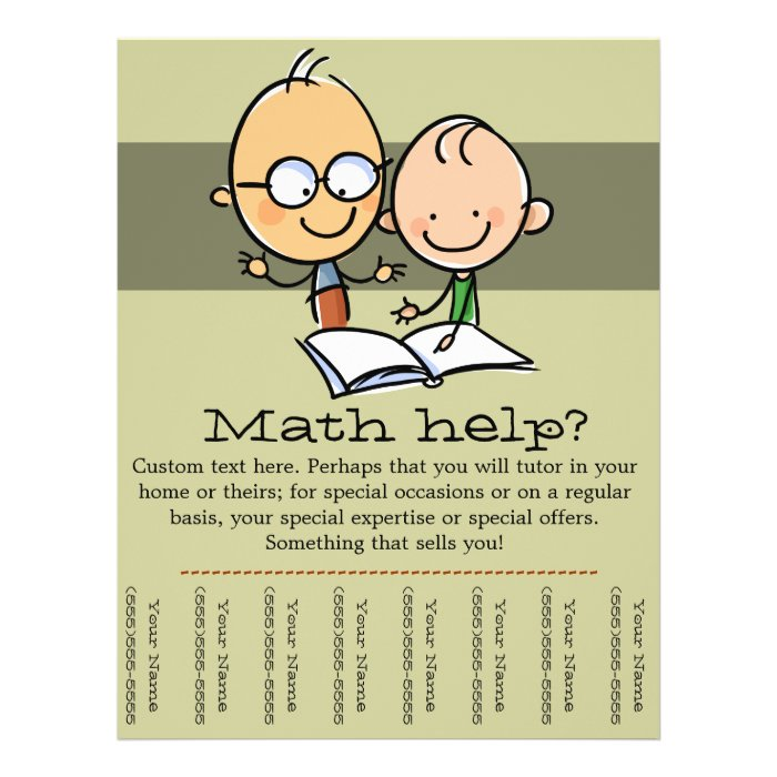 tutor tutoring math reading promo tear sheet