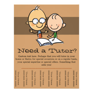Tutor Tutoring promotional tear sheet flyer