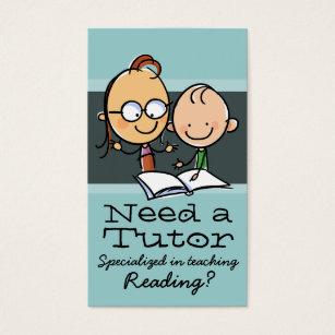Reading tutor business cards templates zazzle tutoringteacherlearning specialist business card colourmoves Choice Image