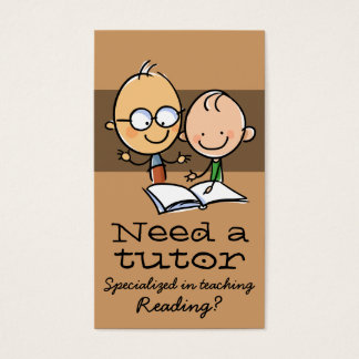 Tutor Tutoring Teacher reading mathematics Business Card