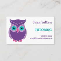 Tutoring Appointment Reminder Purple Owl