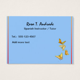 Spanish class teacher business cards templates zazzle tutoring business cards with spanish calendar reheart Gallery