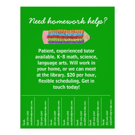 Tutoring Flyer  Zazzle