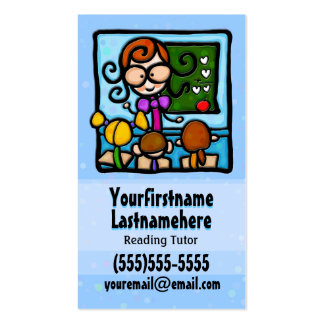 Tutoring.Tutor.Appointment reminder.Custom text Business Card