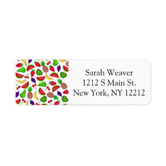 Tutti Fruity Hand Drawn Summer Mixed Fruit Label