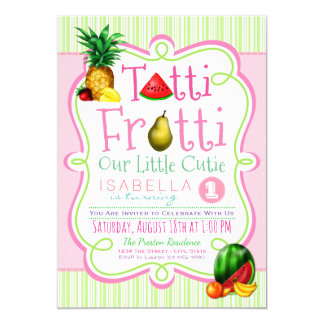 Tutti Frutti Birthday Party Invitation