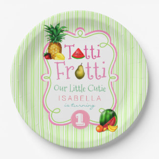 Tutti Frutti Birthday Party Paper Plate