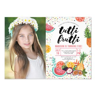 Tutti Frutti | Birthday Party | Photo Invitation