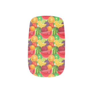 Tutti Frutti Bright Watermelons Kiwi Bananas Fruit Minx Nail Art